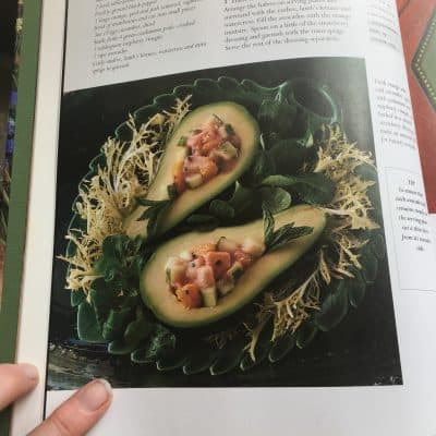 filled avocadoes