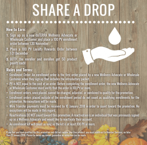Share a Drop November promotion - part of my Cyber Monday package