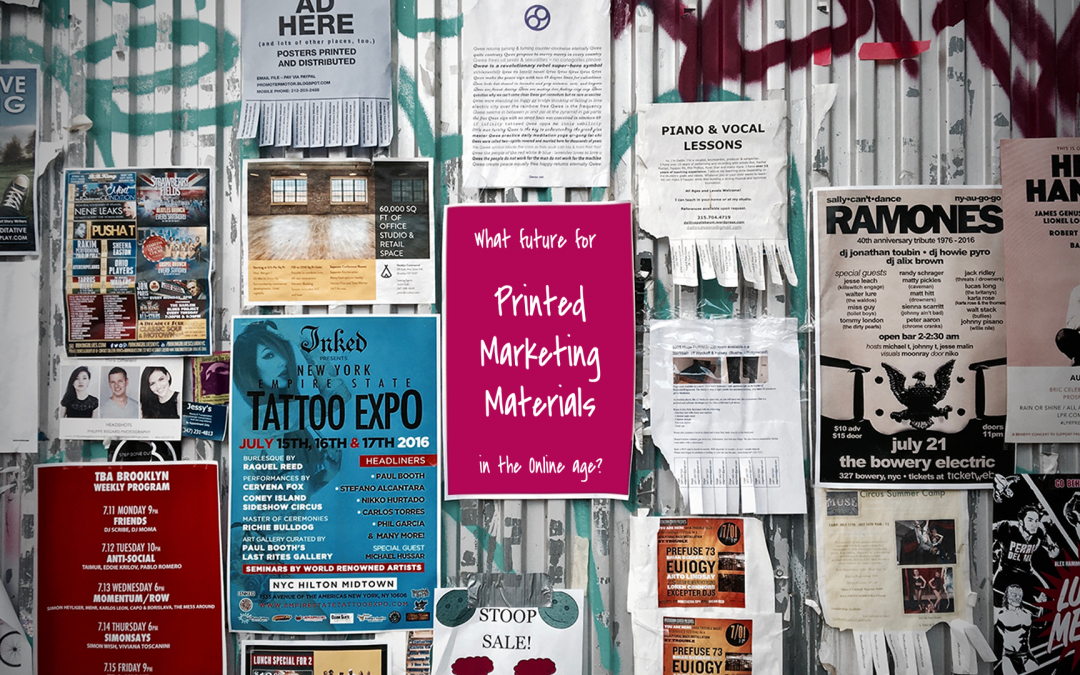 Printed Marketing Materials in the Online Age