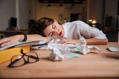 woman taking a power nap