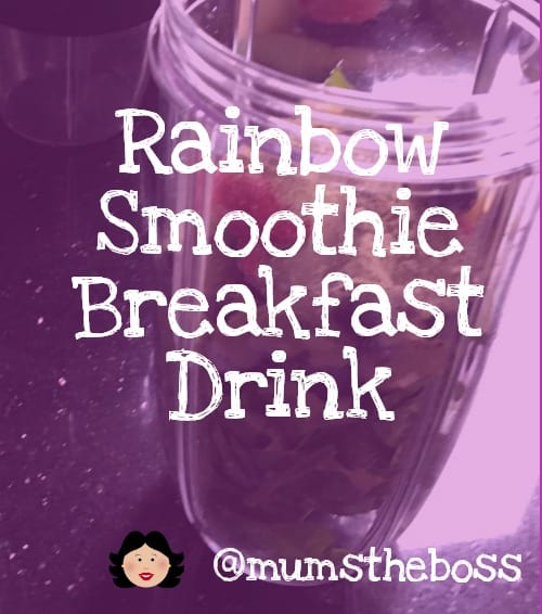 Rainbow smoothie breakfast drink