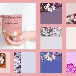 Where flowers bloom - digital templates