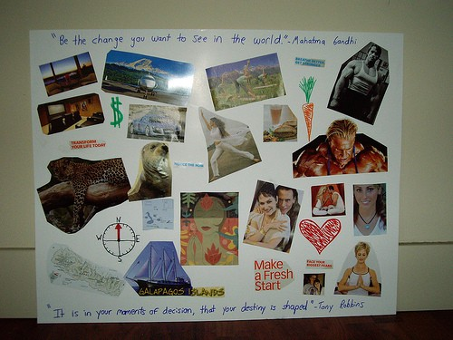 A step by step guide to making a Vision Board