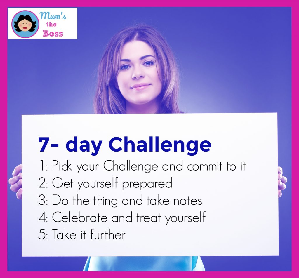 7-day challenge instructinos - set a challenge and go for it