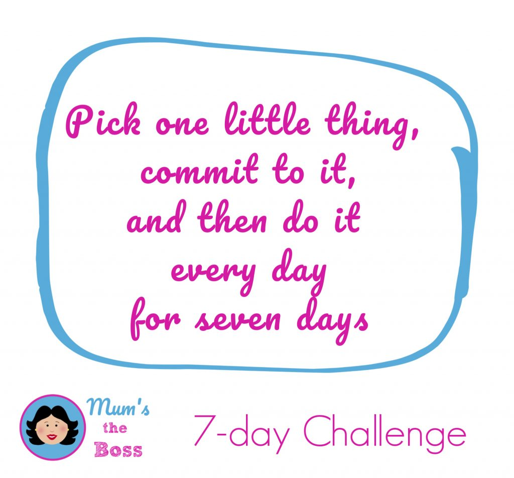set yourself a 7-day challenge