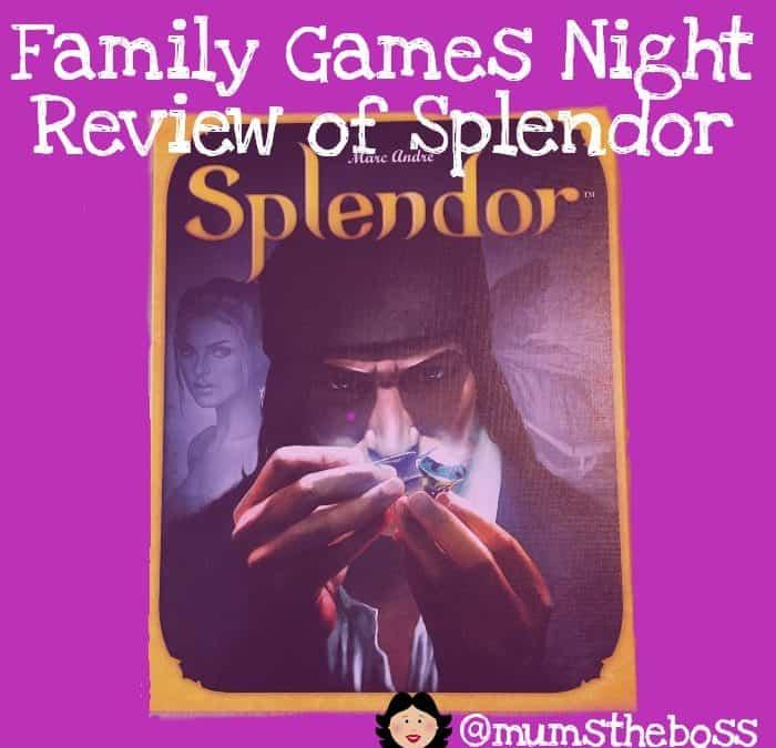 Family Games night: Review of Splendor