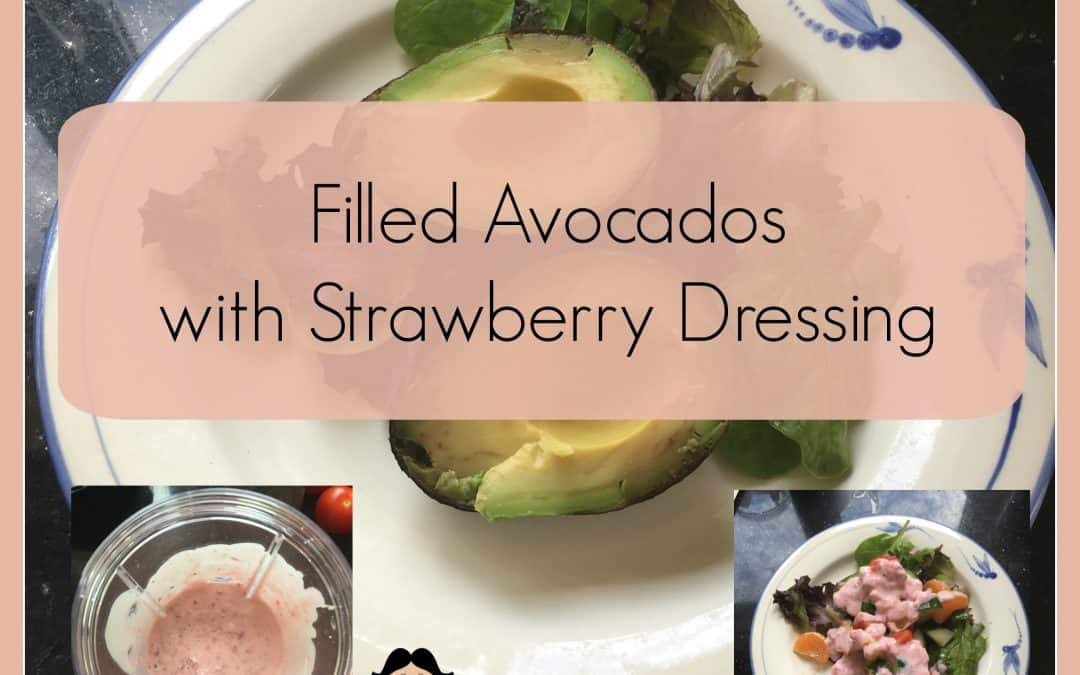 Filled Avocado with Strawberry Dressing